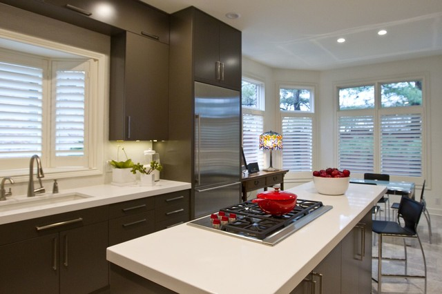 Black And Red Contemporary Kitchen Contemporary Kitchen Indianapolis