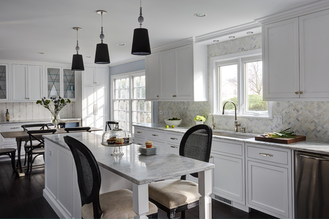 Black And White And Beautiful All Over Transitional Kitchen Chicago By Ddk Kitchen