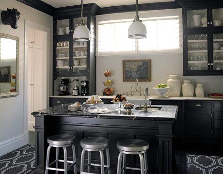 Black And White Traditional Kitchen black & white edwardian kitchen - traditional - kitchen - other