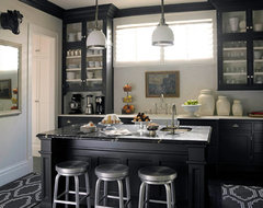 Black & White Edwardian Kitchen traditional kitchen