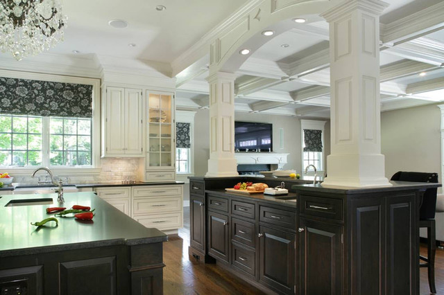 Black And White Kitchen Cabinets Contemporary Kitchen New York By Creative Design