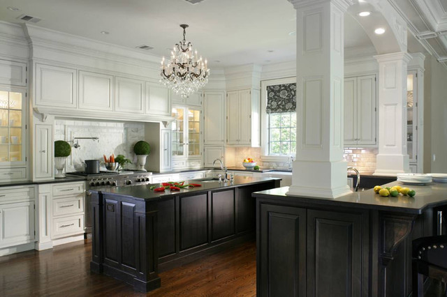 Black and white kitchen cabinets contemporary kitchen for Black and white kitchens photos