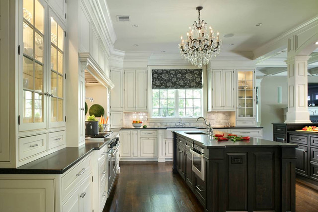 Black And White Kitchen Cabinets Contemporary Kitchen New York By Cre