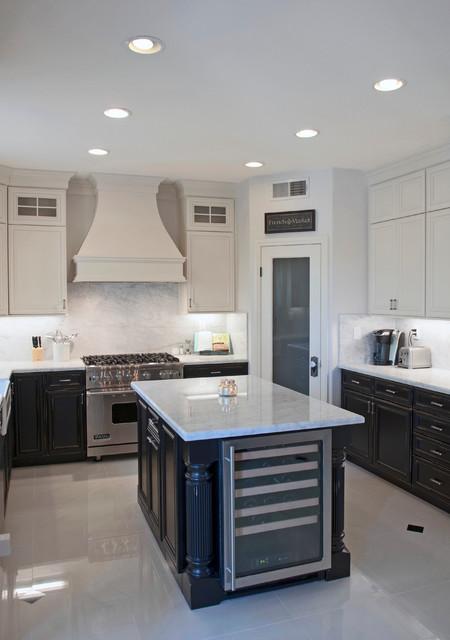 Black & White Kitchen transitional-kitchen