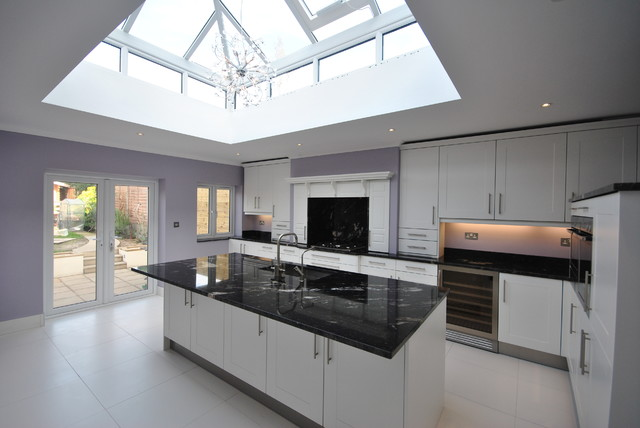 Black White Kitchen Traditional Kitchen London By Granite Direct Limited