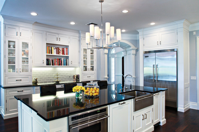 Black and White Kitchen  Contemporary  Kitchen  miami  by Marble
