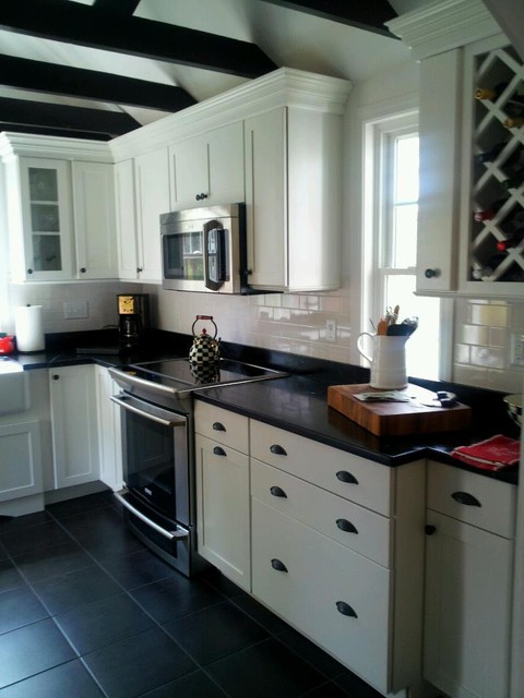 black and white kitchen traditional kitchen other metro by masters touch design build. Black Bedroom Furniture Sets. Home Design Ideas