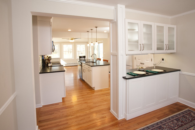 Black & White Kitchen Remodel in Chatham traditional-kitchen