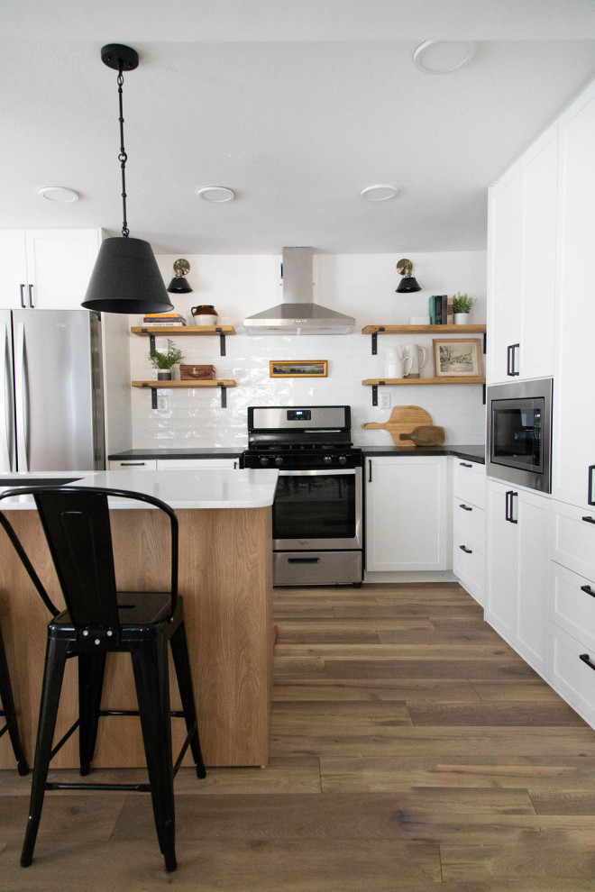 Black and White Kitchen Remodel - Transitional - Kitchen ...