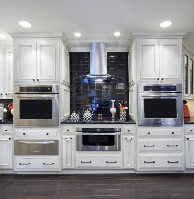 Black White Kitchen Modern Kitchen Little Rock By T Glasco Designs Inc