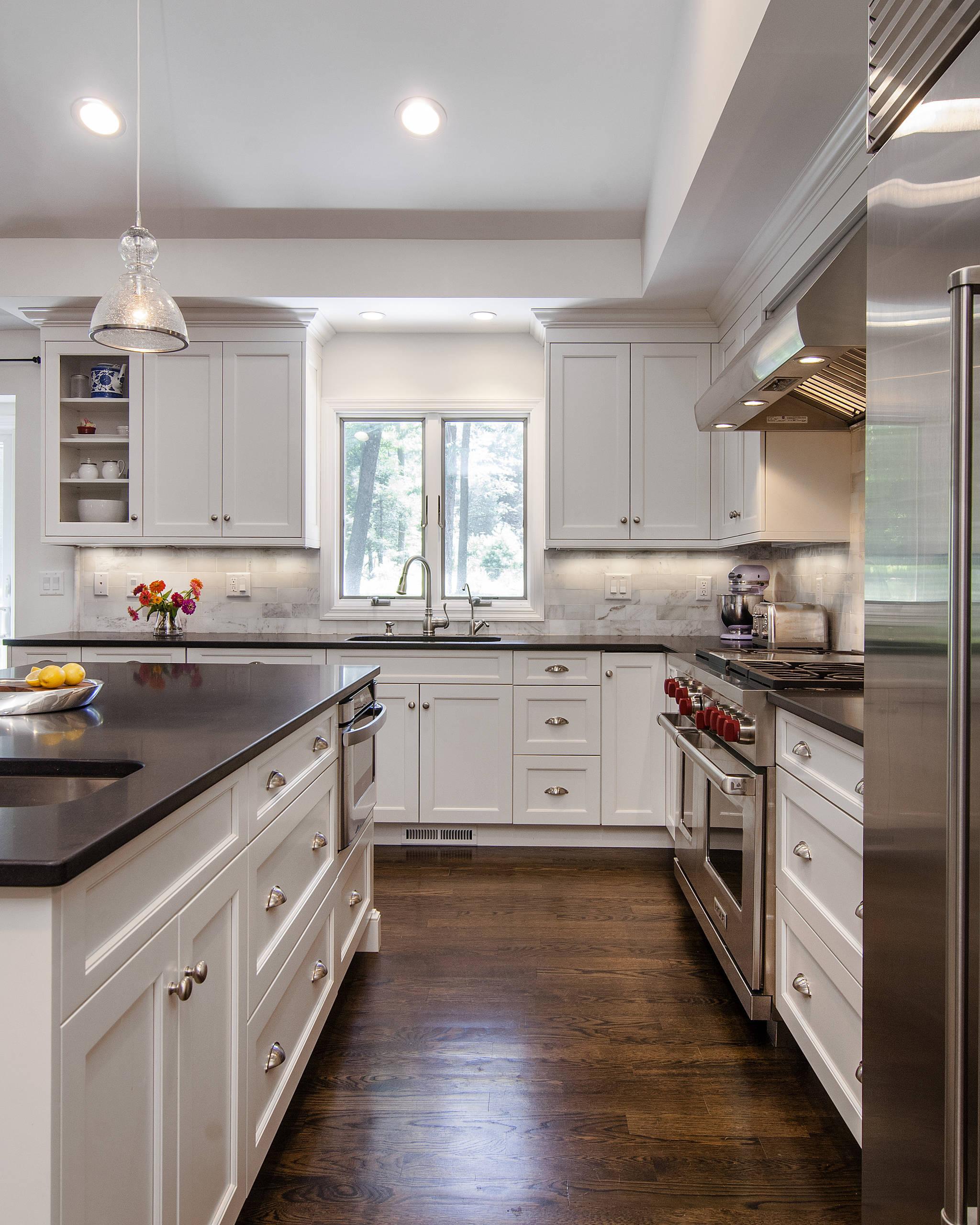 White Kitchen Black Granite Houzz