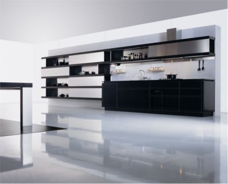 Black & White kitchens modern-kitchen