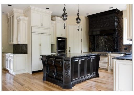 black and white traditional kitchen traditional