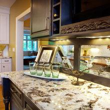 Black Bar with Granite Counter Tops Renovation St. Louis  MO