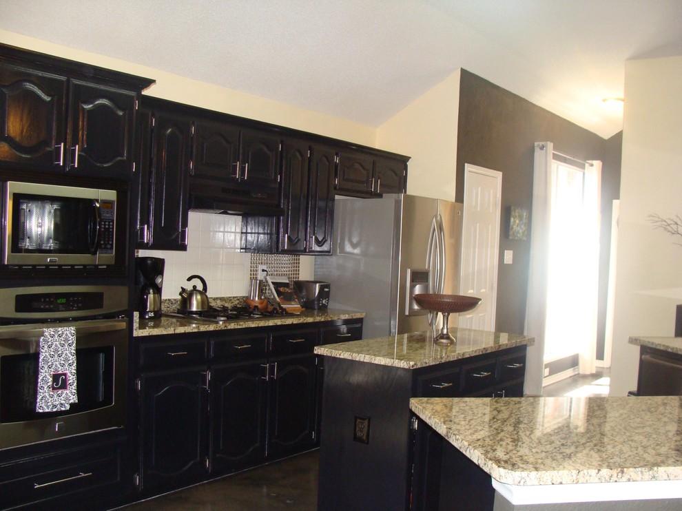Black Cabinet Kitchen - Contemporary - Kitchen - Dallas