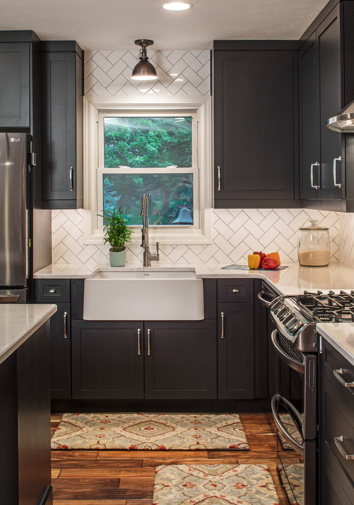 Black Cabinets - Transitional - Kitchen - Omaha - by ...