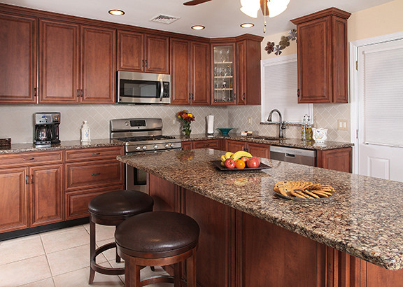 Black Cherry and Cambria Kitchen - Rustic - Kitchen - Other - by ...