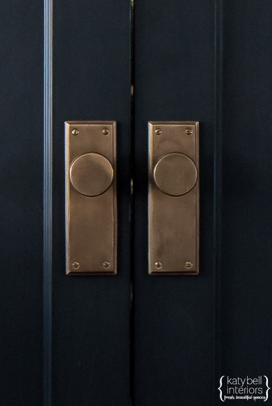 Black doors, Bronze Hardware