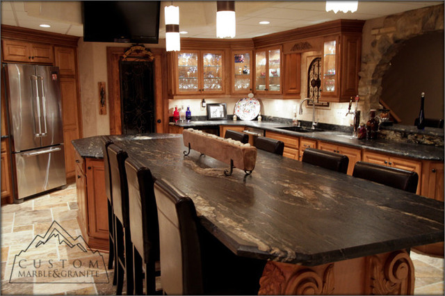 Tuscan Kitchen Tables Black granite table tuscan kitchen mediterranean kitchen black granite table tuscan kitchen mediterranean kitchen workwithnaturefo