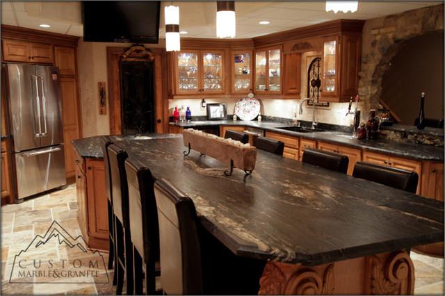 Tuscan Kitchen - Mediterranean - Kitchen Countertops - other metro - by Custom Marble & Granite