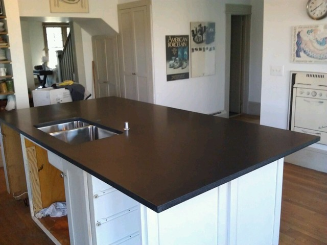 black honed granite