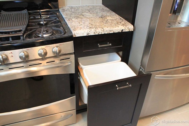 Black Kitchen Cabinets traditional-kitchen