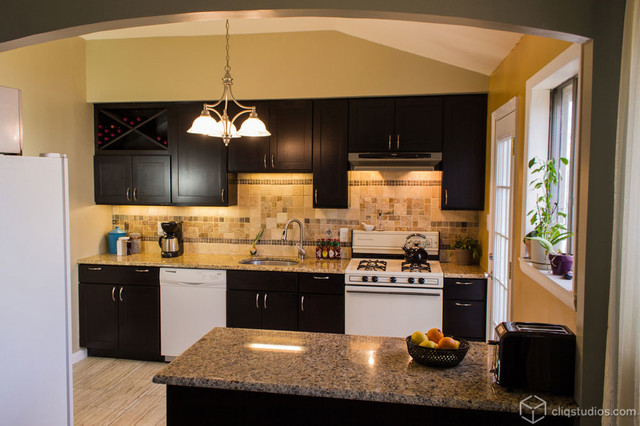 Kitchen appliance colors for 2014 - Black Kitchen Cabinets Contemporary Kitchen
