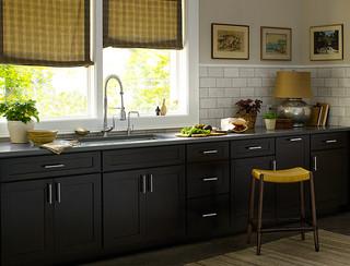 Black Kitchen Cabinets   Dayton Door Style   CliqStudios - Contemporary - Kitchen - Minneapolis ...