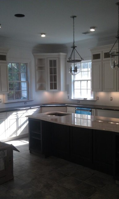 Black Leather Finish Amp Botticino Granite Countertops