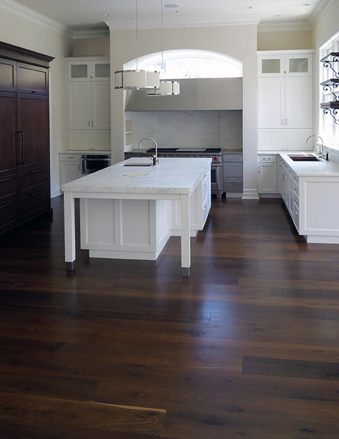 Black Oak Floors Contemporary Kitchen Chicago By