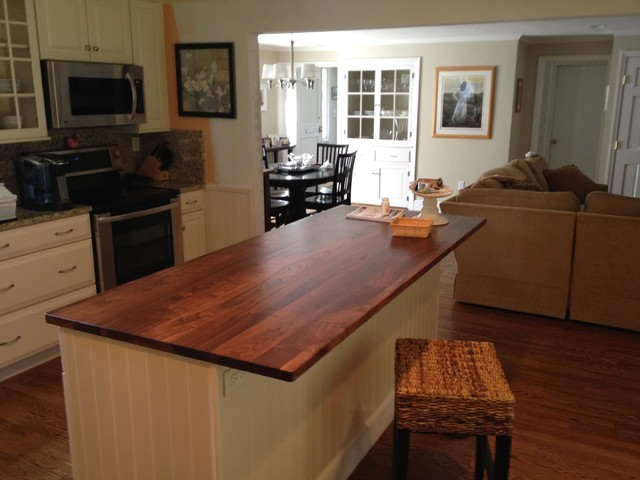 Black Walnut Wood Countertops Traditional Kitchen