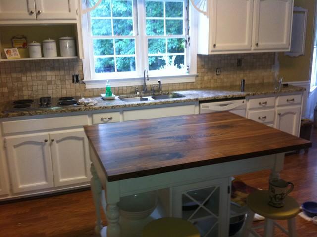 Black Walnut Wood Countertopstraditional Kitchen Atlanta