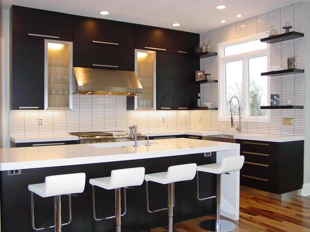 Blackened Rift Cut Oak in Kitchen Remodel - Modern ...