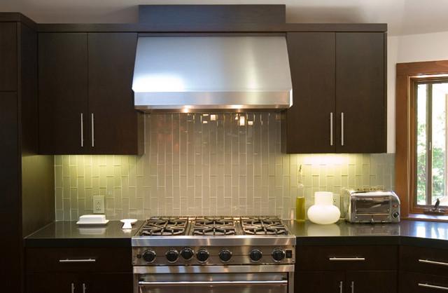 Blanco 3x6 Subway Glass Tiles modern-kitchen