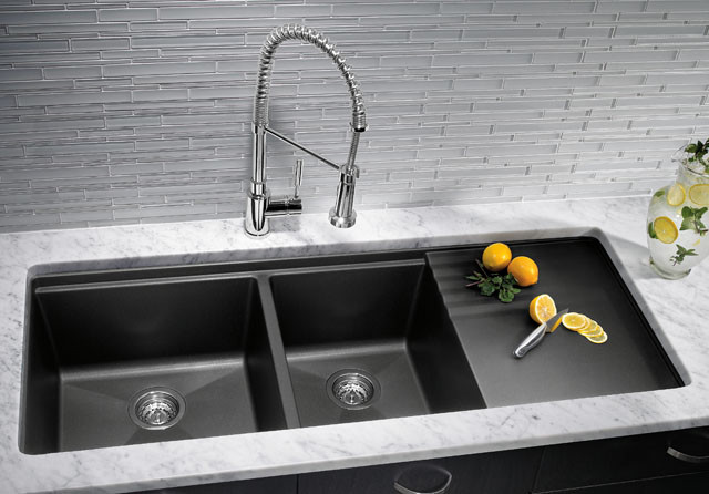 Kitchen Sinks: Granite Composite Offers Superior Durability