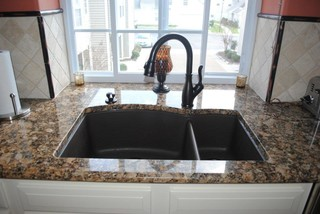 Blanco Silgranite Sink Oil Rubbed Bronze Finish Faucet Traditional Kitchen Other By Hatchett Design Remodel