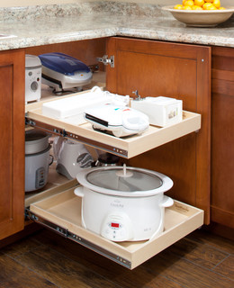 Blind Corner Cabinet Solutions - Traditional - Kitchen ...