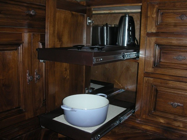 Blind Corner Cabinet Solutions - Traditional - Kitchen - Columbus - by ShelfGenie of Columbus