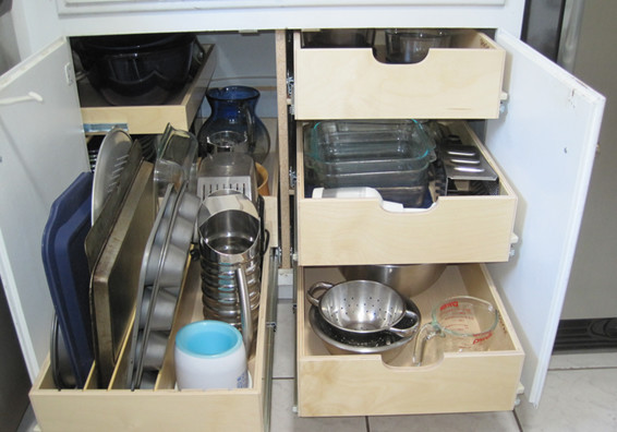 Blind Corner Cabinet Solutions - Cabinet And Drawer Organizers - columbus - by ShelfGenie of ...