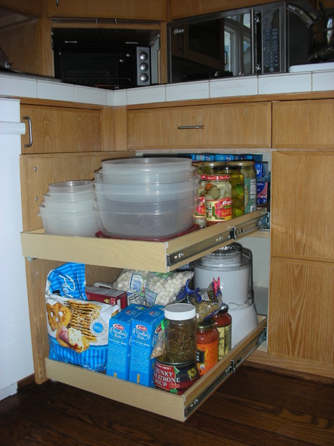 Blind Corner Cabinet Solutions - Traditional - Kitchen - columbus - by ...