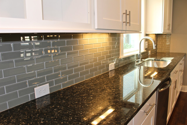 Https Www Houzz Com Photos 13909962 Bliss Elements 2x6 Glass Tile Smoke Contemporary Kitchen Detroit