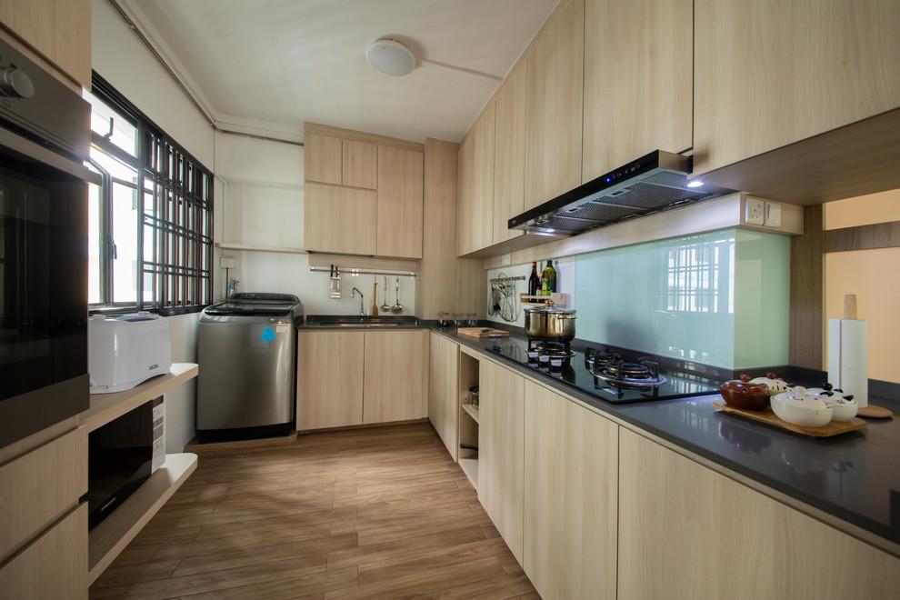 Blk 353 Ang Mo Kio Muji Style Asian Kitchen Singapore By Edge Interior Pte Ltd Houzz