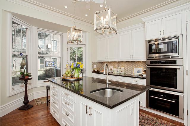 Bloomfield st brownstone hoboken traditional kitchen for Brownstone kitchen ideas