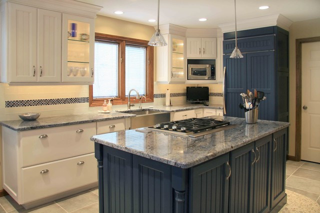Blue Amp White Traditional Kitchen