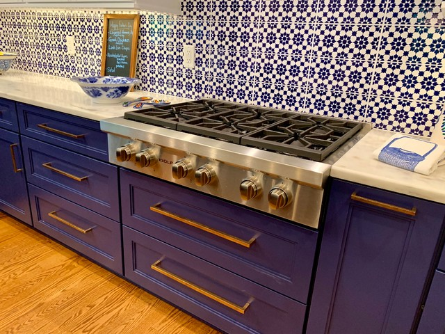 Blue and White Delightful Kitchen Remodel - Traditional ...