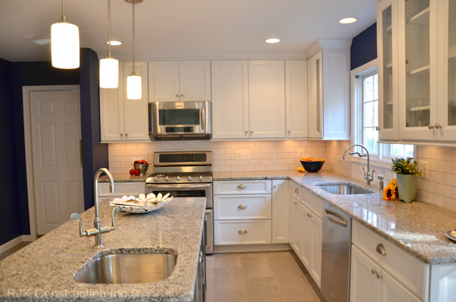 Blue and White Kitchen - Traditional - Kitchen - dc metro - by RJK ...