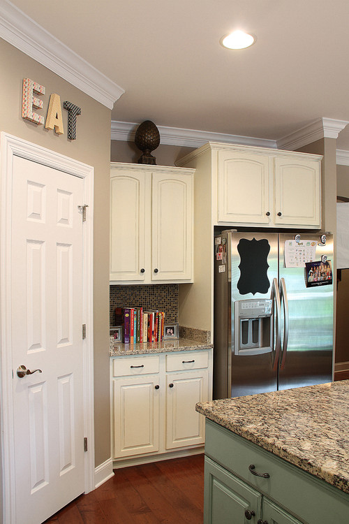 annie sloan old ochre on cabinets   rh   houzz com