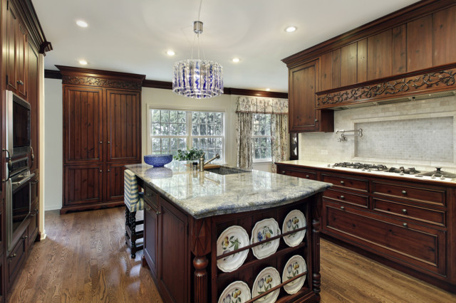 Blue Bahia Granite Countertop - Traditional - Kitchen - other metro - by Virtual Warehouse
