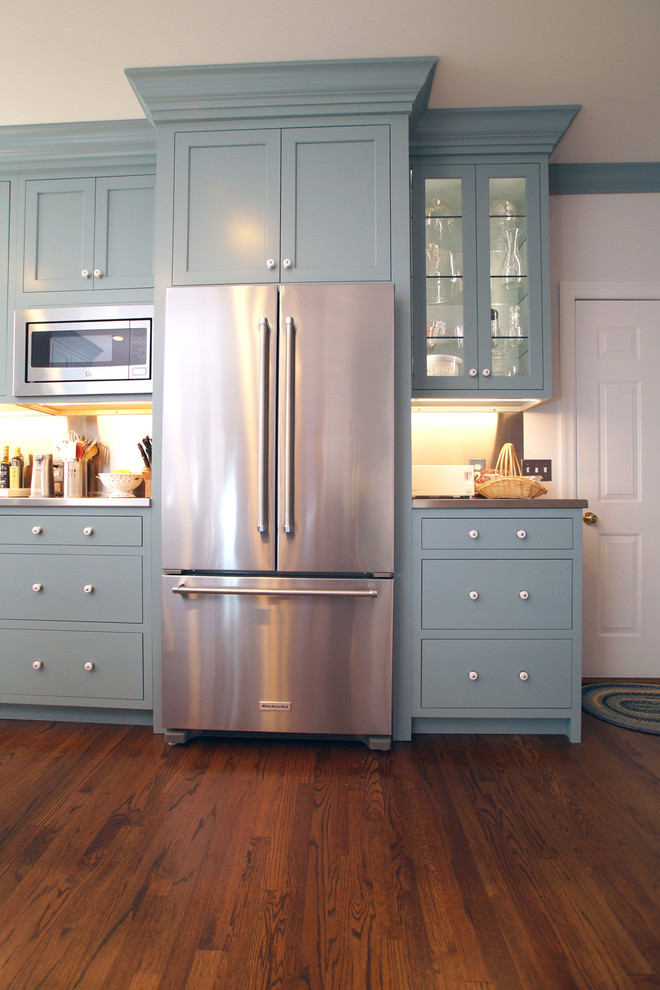 Blue Colonial Kitchen Remodel - Transitional - Kitchen ...