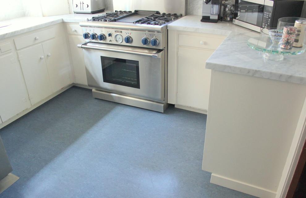 Blue Color Marmoleum Flooring
